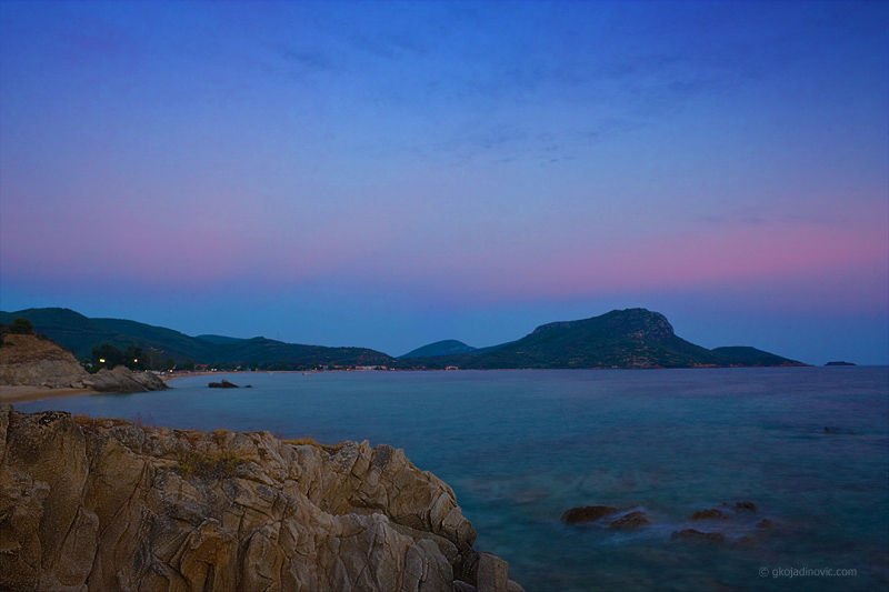 Sumrak u Toroniju, twilight in Toroni, plavi čas, the blue hour
