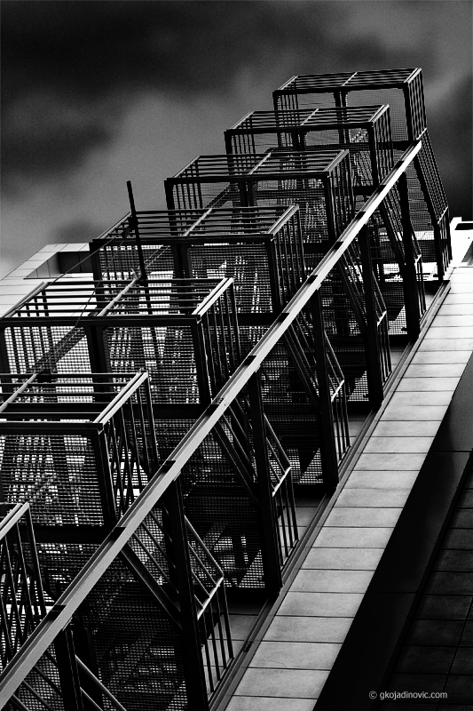 Stairs of steel